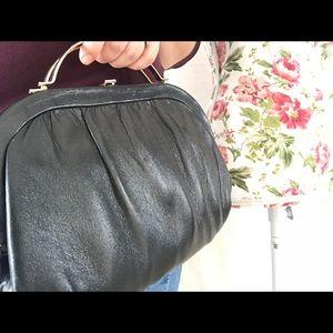 Vintage black metal frame handbag